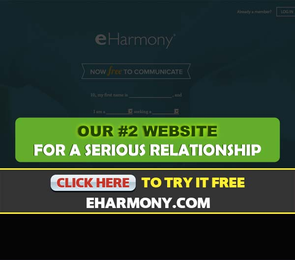 eHarmony.com screenshot