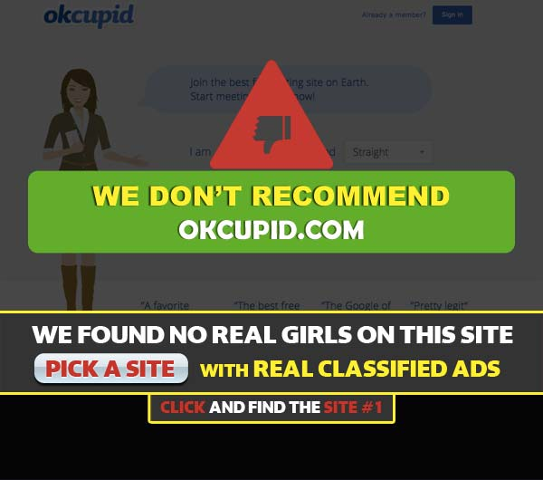 OkCupid.com screenshot